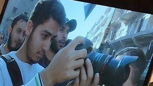 "Mojahed, l'un des cameraman syrien du documentaire de Feras Fayyad ""Last men in Aleppo""  (France 3 / Culturebox )"