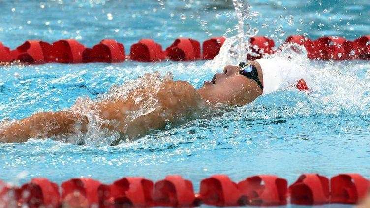 Fu Yuanhui, championne du monde du 50m dos (STR / AFP)