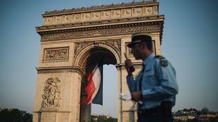 Samedi 14 juillet, jour de fête nationale, quelque 4 290 militaires, 220 véhicules, 250 chevaux, 64 avions et 30 hélicoptères défileront sur les Champs-Elysées.  (LUCAS BARIOULET / AFP)