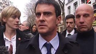 Manuel Valls, à Paris, le 11 janvier. ( FRANCE 2)