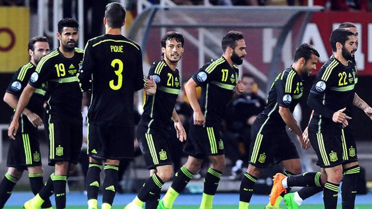 Les joueurs de l'équipe d'Espagne