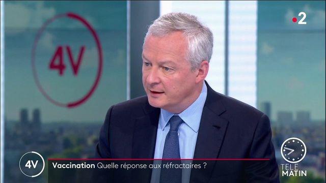 """Pass sanitaire : """"L'objectif c'est de protéger la santé des Français"""", rappelle Bruno Le Maire"""