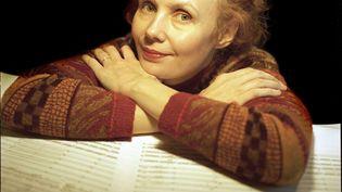 La compositrice finlandaiseKaija Saariaho (13 septembre 2016) (YANNICK COUPANNEC / LEEMAGE / AFP)
