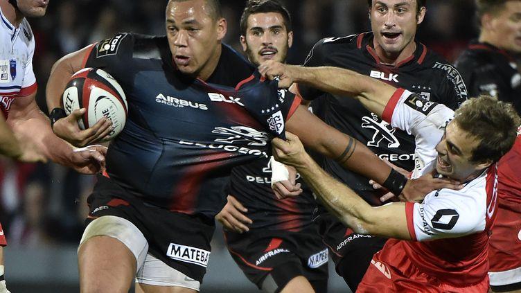 Gaël Fickou (Stade Toulousain) a inscrit trois essais face à Grenoble. (PASCAL PAVANI / AFP)