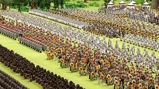 1 500 figurines ont été placé dans la reconstitution de la bataille de Crécy.  (capture d'écran France 3 / Culturebox)