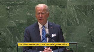États-Unis : Joe Biden s'est exprimé pour la première fois à la tribune de l'ONU (FRANCEINFO)