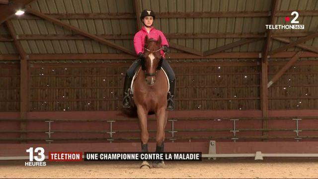 Téléthon : une championne d'équitation lutte contre la maladie
