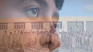 """Un enfant yézidi enrôlé par l'Etat islamique, interrogé par une équipe de France 2, dans le cadre du reportage """"Les enfants soldats de Daesh"""", diffusé le 4 octobre 2017. (FRANCE 2)"""