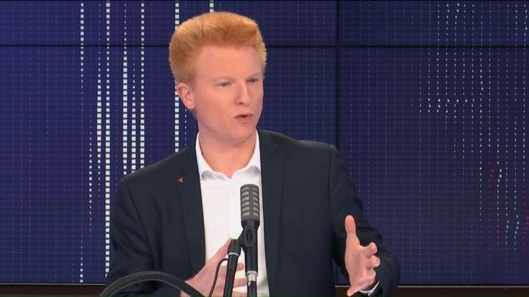 """Adrien Quatennens, député La France Insoumise du Nord, était l'invité du """"8h30 franceinfo"""", mercredi 7 octobre 2020. (FRANCEINFO / RADIOFRANCE)"""