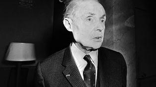 L'écrivan français Maurice Genevoix, secrétaire de l'Académie française, en 1970. (AFP)