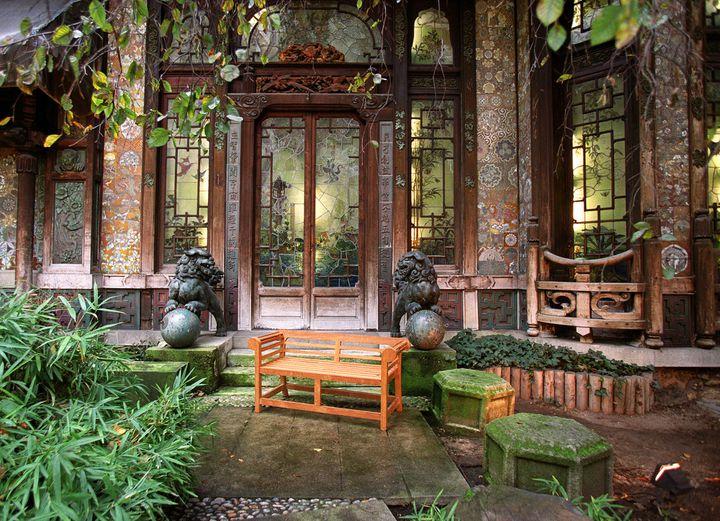 Le jardin japonais de La Pagode, à Paris  (JEAN-PIERRE MULLER / AFP)