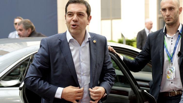 Le Premier ministre grec Alexis Tsipras lors d'un sommet européen à Bruxelles, vendredi 26 juin 2015. (THIERRY CHARLIER / AFP)