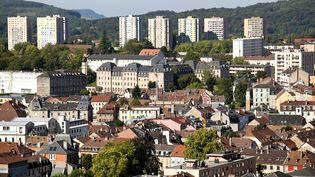 Vue de la ville de Belfort depuis la citadelle de Vauban, le 24 avril 2017. (PHILIPPE ROY / AFP)