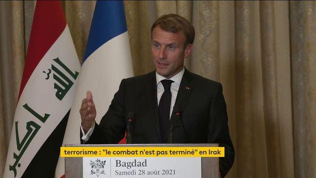"""""""Il y a des discussions avec les talibans sur le sujet des opérations humanitaires"""", déclare Emmanuel Macron"""