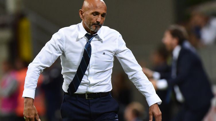 Luciano Spalletti, le coach de l'Inter Milan (MIGUEL MEDINA / AFP)
