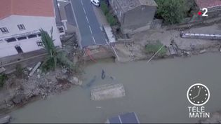 Images des inondations dans l'Aude. (FRANCE 2)