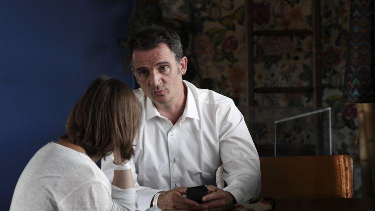 Eric Piolle, maire écologiste de Grenoble, le 22 août 2020 à Pantin (Seine-Saint-Denis) (ALAIN JOCARD / AFP)