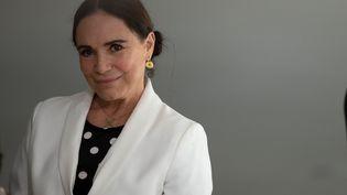 L'actrice brésilienne Regina Duarte, lors de sa cérémonie d'investiture à la tête du secrétariat à la Culture, le 4 mars 2020 à Brasilia (JOEDSON ALVES/EFE/SIPA / EFE)