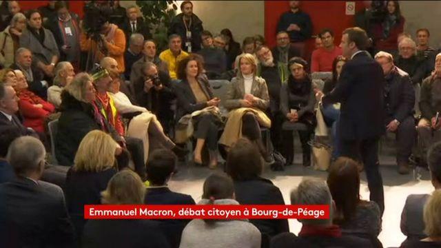 """""""Les vraies réformes, elles vont avec les contraintes les enfants"""", lance Macron lors d'un débat"""