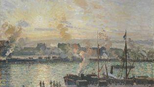 """""""Quai de la Bourse, Rouen, soleil couchant"""", Camille Pissarro, 1898.Service presse / Musée Marmottan-Monet (© NATIONAL MUSEUM OF WALES)"""
