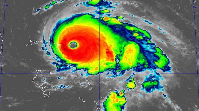 L'ouragan Dorian, sur une visualisation du Centre national américain des ouragans (NHC), le 1er septembre 2019. (NATIONAL HURRICANE CENTER / TWITTER)