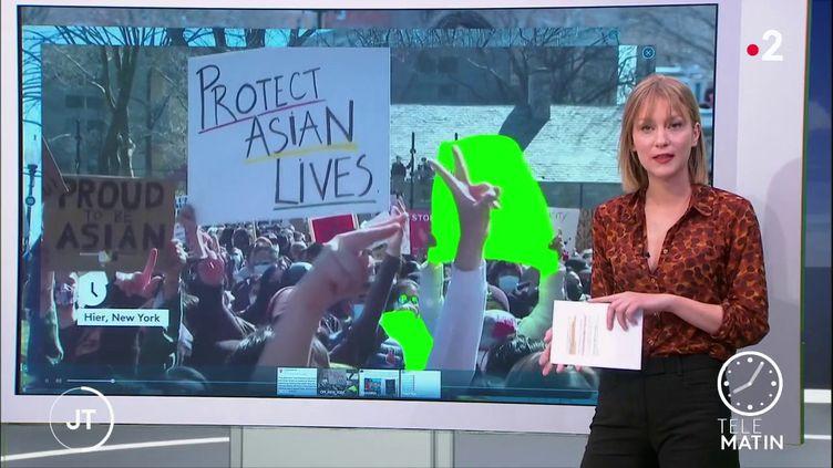Manifestation à New York en soutien à la communauté asiatique (France 2)