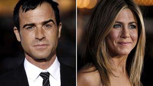 """Le comédien-scénariste Justin Theroux a demandé en mariage sa compagne, l'actrice Jennifer Aniston, qui lui a dit """"oui"""" le 12 août 2012. (MATT SAYLES / AP / SIPA)"""