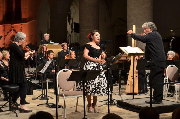 """René Jacobs dirige """"Il triomfo del tempo e del disinganno"""" à Ambronay.  (Bertrand Pichène - Festival d'Ambronay)"""