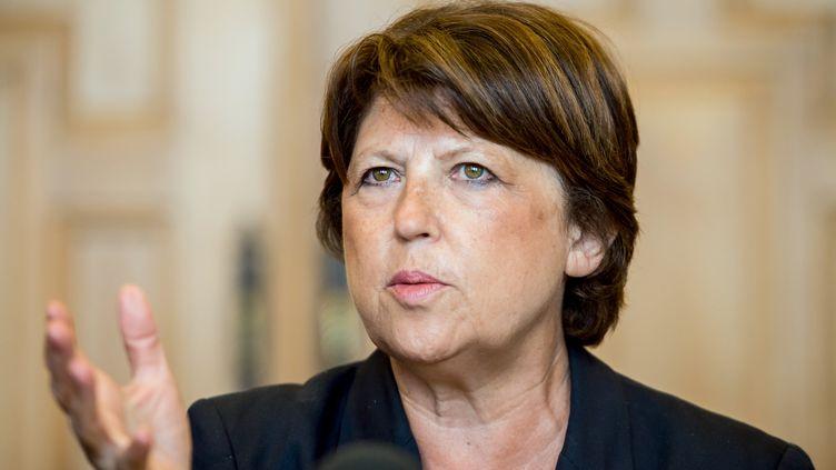 La maire de Lille, Martine Aubry, le 8 septembre 2014 à Lille. (PHILIPPE HUGUEN / AFP)