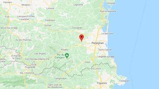 L'incendie a eu lieu autour de Millas et de Néfiachdans lesPyrénées-Orientales. (GOOGLE MAPS / FRANCETV INFO)