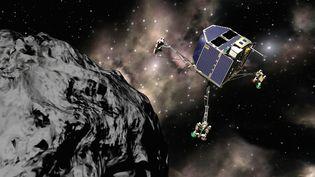 Image d'illustration de la mise en orbite de la sonde Rosetta autour de la comète Tchourioumov-Guérassimenko, prévue pour le 6 août 2014. (AFP / CNES / ESA)