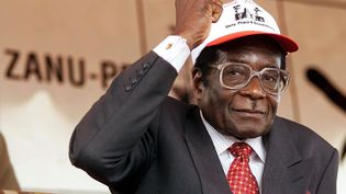 Robert Mugabe, le 8 juin 2000. (ODD ANDERSEN / AFP)