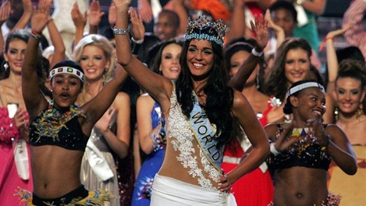 Kaiane Aldorino, 22 ans, a  été élue Miss  Monde (AFP/Paballo Thekiso)