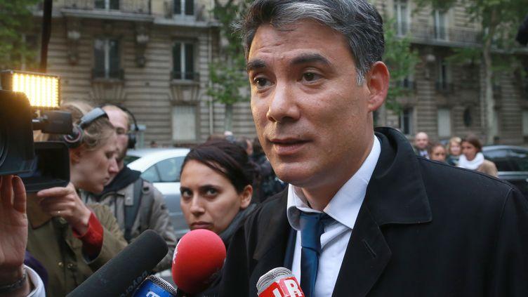 Le député socialisteOlivier Faure en mai 2013 devant des journalistesà Paris (PIERRE VERDY / AFP)