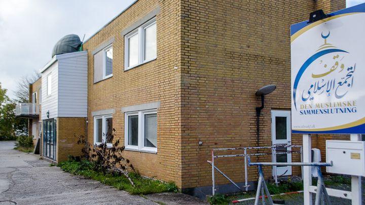 La mosquée Grimhojvej, en banlieue d'Aarhus (Danemark), jeudi 16 octobre 2014. 22 de ses fidèlesse seraient rendus en Syrie pour faire le jihad, selon les autorités danoises. (MARIE-VIOLETTE BERNARD / FRANCETV INFO)