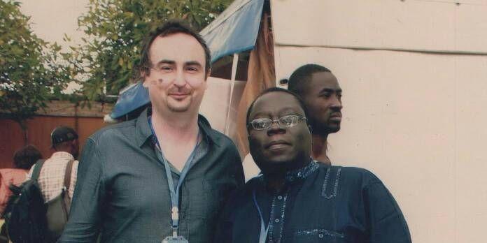 Pierre Cherruau et l'écrivain béninois Florent Couao-Zotti, en mai 2018, au salon du livre à Yaoundé (Avec l'aimable autorisation de Florent Couao-Zotti )