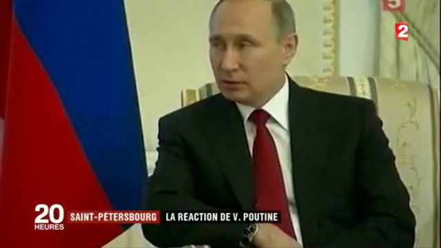Saint-Pétersbourg : la réaction de Vladimir Poutine