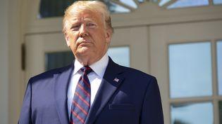 Donald Trump sur le perron de la Maison Blanche, à Washington (Etats-Unis), le 2 octobre 2019. (STEFANI REYNOLDS / CONSOLIDATED NEWS PHOTOS / AFP)