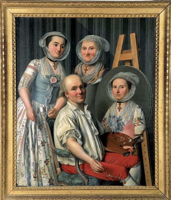 """Antoine Raspal : """"Le Peintre et sa famille""""  (Musée Réattu, Arles c'est)"""