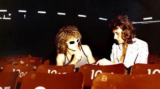 """Michel Polnareff etJohnny Hallyday dans le film""""J'ai tout donné"""", en 1973. (COLLECTION CHRISTOPHEL / AFP)"""