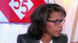 """Audrey Pulvar sur le plateau de l'émission """"C à vous"""" sur France 5 le 2 mai 2017 (FRANCE 5)"""