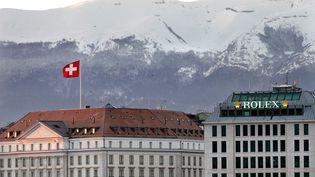 Le centre-ville de Genève (Suisse), le 3 janvier 2013. (MAXPPP)