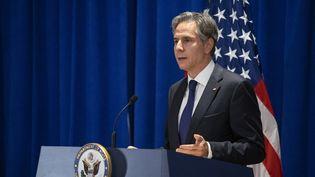 Le secrétaire d'Etat américain, Antony Blinken, le23 septembre 2021 à New York. (EDUARDO MUNOZ / AFP)