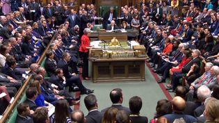 La Chambre des communes du Parlement britannique, le 12 mars 2019. (AFP)