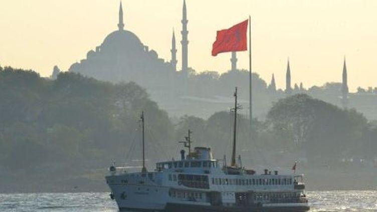 Sainte-Sophie vue du Bosphore, à Istanbul. (ANTOINE LORGNIER/AFP)