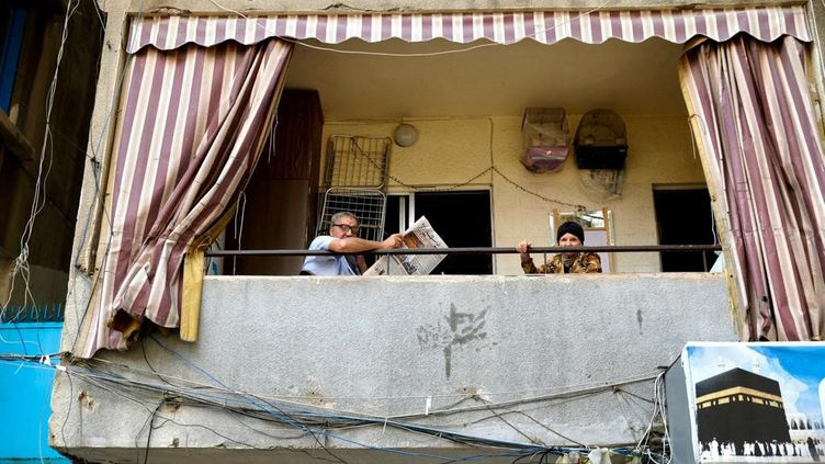 Dans le quartier populaire de Khan Dak al Ghamik, à Beyrouth. (NATHANAEL CHARBONNIER / FRANCE-INFO)