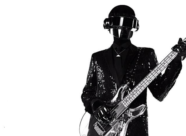 Costume de scène de Thomas dessiné par Hedi Slimane pour Daft Punk 2013.  (Saint Laurent Music Project / Daft Punk)