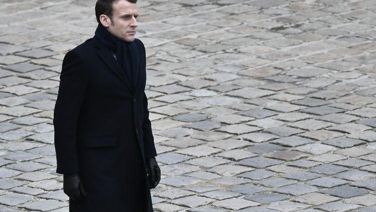 Emmanuel Macron, le 28 février 2020, à Paris. (STEPHANE DE SAKUTIN / AFP)