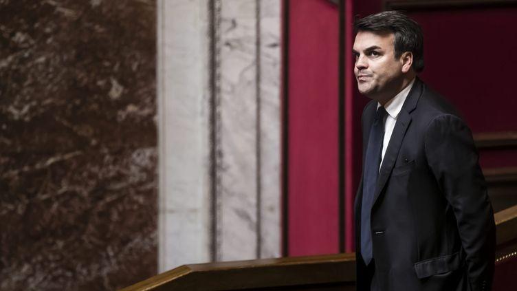 Le député socialiste Thomas Thévenoud, le 22 février 2017 à l'Assemblée nationale. (MAXPPP)