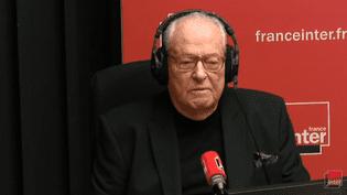 Jean-Marie Le Pen, le 12 mars 2018, sur France Inter. (CAPTURE ECRAN / FRANCEINFO)